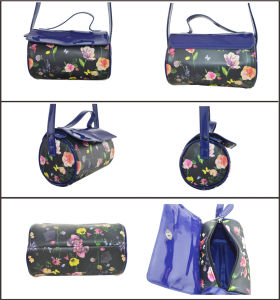 Flower Print PU Fashion Messenger Bag pictures & photos