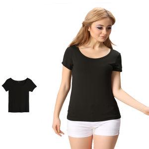 Great Quality Soft Cotton Homewear Plain Women T-Shirt pictures & photos