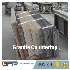 Granite Kitchen Countertop with Polished Surface in Eased Edge Treatment pictures & photos