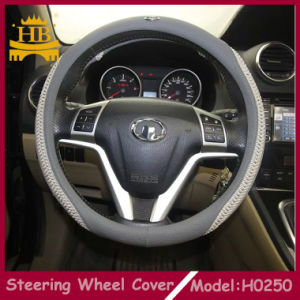 Special Design for Safe Driving PU+Knit Material Car Steering Wheel Cover