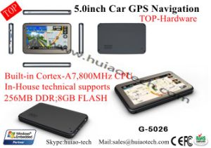 "Top 5.0"" Car Truck Wince GPS Navigator with Bluetooth Tmc Receiver AV-in for Rearview Camer pictures & photos"