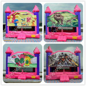 Bouncy House with Changeable Art Panel, Inflatbale Playhouse with Slide pictures & photos