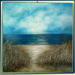 Handmade Sea View Beautiful Scenery Oil Painting on Canvas (LH-038000) pictures & photos