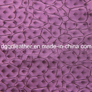 Fashion Stone Pattern Decoration Furniture Leather (QDL-51385) pictures & photos