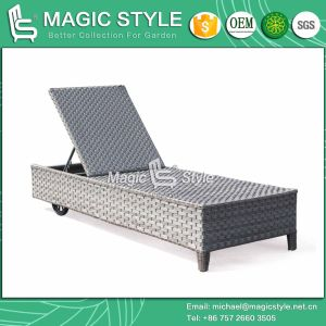 New Design Rattan Sunlounger Wicker Sunlounger Garden Furniture Leisure Lounge Patio Furniture Outdoor Furniture (Magic Style) Foshan pictures & photos