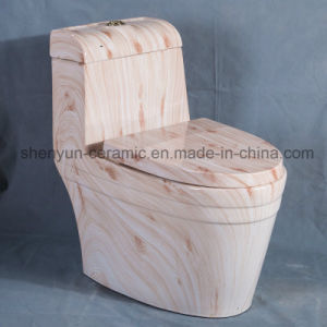 Ceramic One-Piece Toilet Water Closet Color Wc Marble Decoration (A-006S) pictures & photos