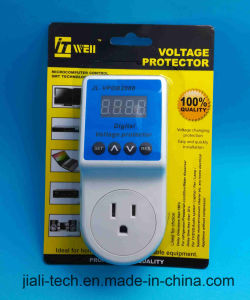 Automatic Power Voltage Protector with LED Digital Display 15A Us Socket pictures & photos