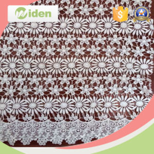 Water Soluble Daisy Patterns Lace Fabric for Curtains or Hometextile pictures & photos