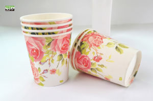Valentine′s Design Disposable Paper Tableware Double & Single PE Cup
