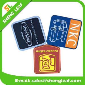 Householder Custom Square Soft PVC Rubber Coaster Product (SLF-RC012) pictures & photos