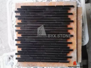 Black Wood Marble Mosaic for Wall Cladding pictures & photos