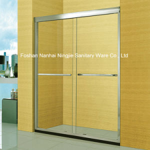 Economic Bathroom Double Sliding Door Shower Screen (A-042) pictures & photos