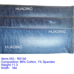 Hot Sell 99% Cotton 1% Spandex Denim Jeans Fabric (R5130) pictures & photos