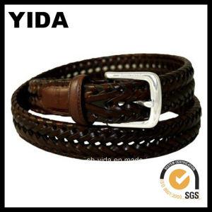 Wide Woven Webbing Leather Belt for Man (YD-15039)