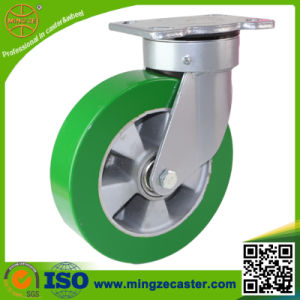 6inch Elastic PU Aluminum Core Wheels Industrial Caster pictures & photos