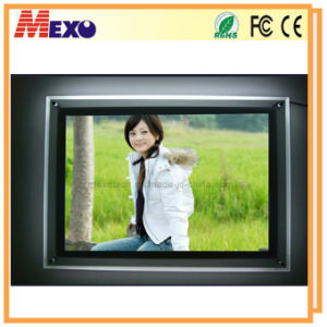 Crystal Ultra Slim LED Bank Advertising Light Box (CSW01-A4L-01) pictures & photos