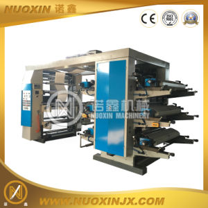 6 Colour Stack Plastic Film Flexographic Printing Machine pictures & photos