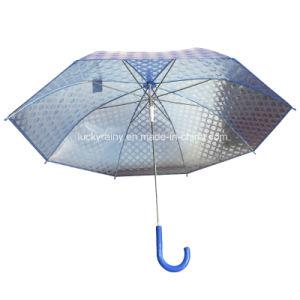 Plastic Transparent Poe Umbrella with Fashion 3D Design