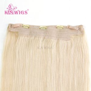 Wholesale Top Quality Human Virgin Halo Hair Extension pictures & photos