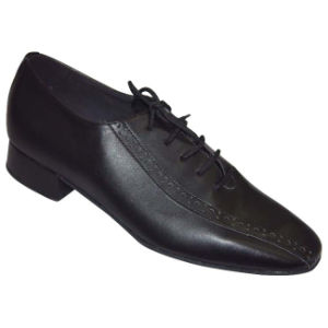 Black Leather Men′s Ballroom/Tango Dance Shoes pictures & photos