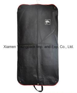 Custom Printed Black Non-Woven Button Foldable Garment Cover Bag pictures & photos