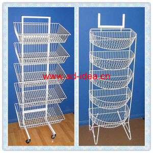 White Wire Display Stand/Multi Layers Advertising Stand (Ol-13) pictures & photos