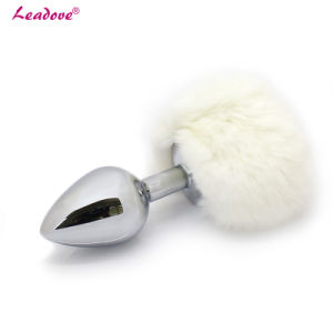Soft Rabbit Tail Metal Anal Plug Bunny Tail Butt Plug pictures & photos