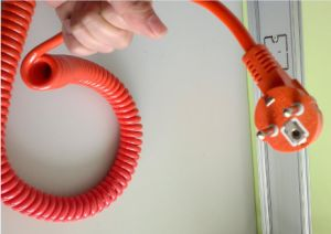 Three Phase Plug and Socket Spiral Cable