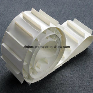 White Cleats Food Inclined Industry/Industrial Factory Endless PU Conveyor Belt pictures & photos