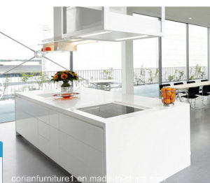 High Quality Modern White Kitchen Cabinets Corian Made pictures & photos
