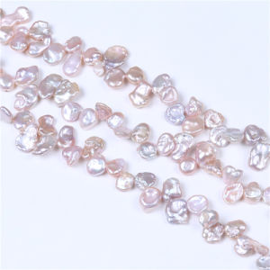 Natural 10mm Purple Reborn Keshi Pearl Necklace Chain pictures & photos