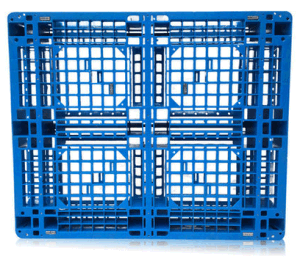 EU Standard Pallet 1200*1000*150mm HDPE Heavy Duty Plastic Pallet Rack Load 1ton Pallet for Warehouse Storage Products (with 6 steel tubes) pictures & photos