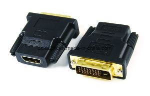DVI (24+1) Male to HDMI Female Adapter pictures & photos