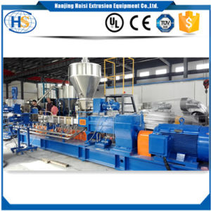 Large Output PA PP PE Co-Rotating Twin Screw Extruder pictures & photos