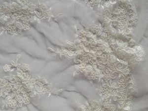 Luxury Embroidery Fabric for Evening Bridal Wedding Dress pictures & photos