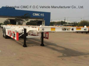 Cimc 20FT 40FT Single Axle 1axle Double Axle 2axle Three Axle 3axle Skeleton Container Semi-Trailer pictures & photos