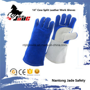Anti-Hot Cowhide Leather Industrial Safety Welding Work Glove pictures & photos