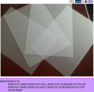 Calendered Frosted Thin Transparent Plastic PVC Sheet for Folding Box pictures & photos