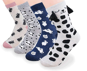 Custom Fashionable Cartoon jacquard Sock in Various Sizes and Designs pictures & photos