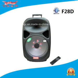 Feiyang Temeisheng 12′′ Inch Multi-Colored Battery Speaker with Colorful Light F28d pictures & photos