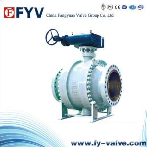 Cast Steel Trunnion Ball Valve pictures & photos