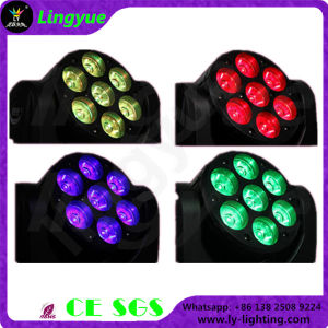 Professional Stage Lighting 7PCS LED Mini Moving Head Beam 12W RGBW pictures & photos