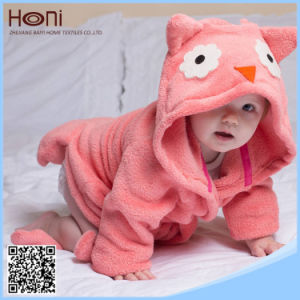 Wholesale OEM Cotton Animal Hooded Baby Bathrobe pictures & photos