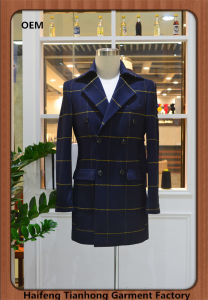 Hot Sale Made to Measure Plaid Men Tweed Over Coat