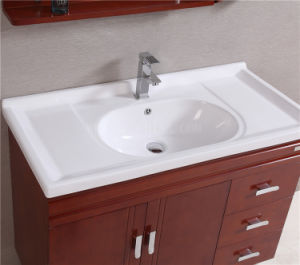 Classcial Luxury Solid Wood Oak Bathroom Vanity pictures & photos