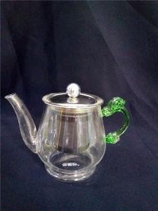 Unqiue Design Tea Pot Maker Borosilicate Glass Teapot Set with Infuser Warmer