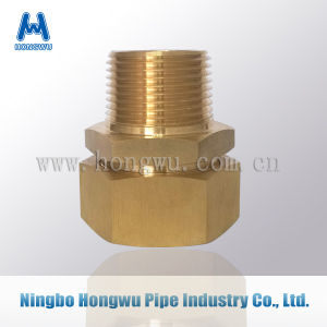Nipple Brass Fitting for Pipe End Connection pictures & photos