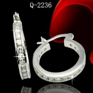 Fashion Jewelry Silver Diamond Earrings pictures & photos