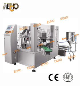 Mr8-200ry Liquid Soap Rotary Bag Given Spout Bag Packing Machine pictures & photos