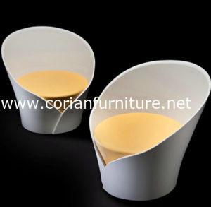 Acrylic Solid Surface Shaped Designer Armchair pictures & photos